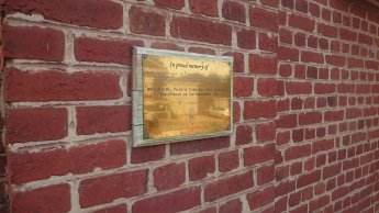 Plaque outside Church